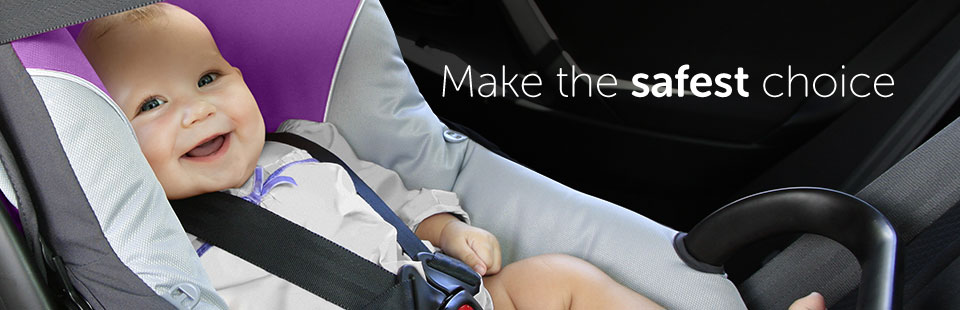 Child Car Seats - Make the Safest Choice - image of a baby reclined in a rear facing child car seat