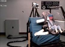 Crash Test Of Dummy In Forward Facing Child Car Seat